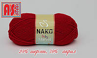 Nako Baby Marvel красная -  25% шерсть, 75% акрил
