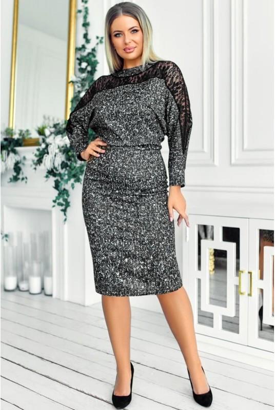 Меланжевое платье Альберта 48-58рр