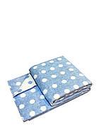 Плед-одеяло детское Горошек синий Love You (4364) 100x140 см