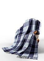 Плед Палермо бел-серо-гол-т.син VLADI (4252) 140x200 см