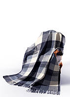 Плед Палермо бел-серо-гол-т.син VLADI (4362) 140x200 см