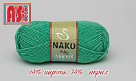 Nako Baby Marvel бирюза -  25% шерсть, 75% акрил