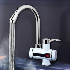Проточный нагреватель для воды с индикатором DELIMANO, электрический нагреватель (нижнее подключение)