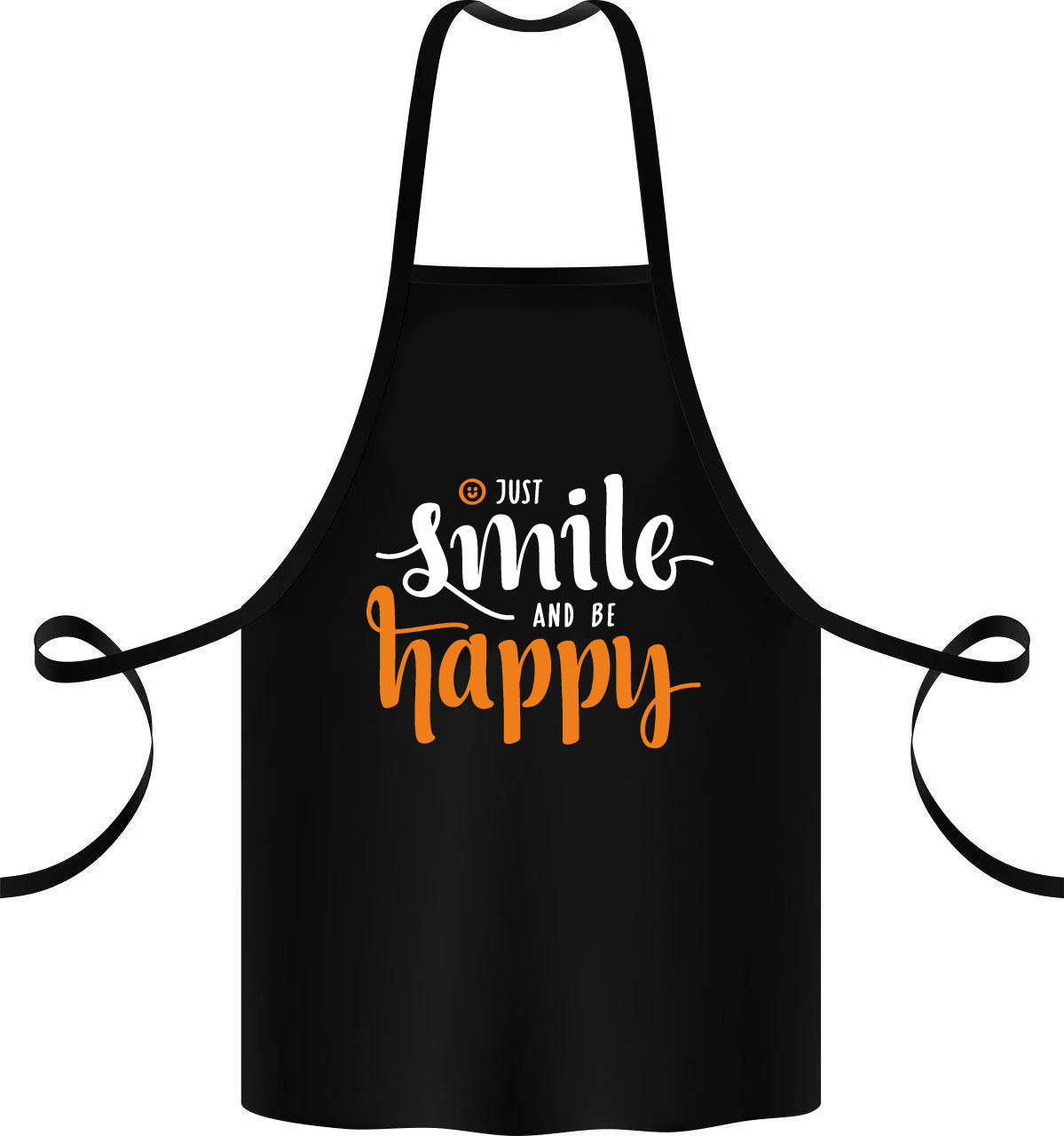 """Фартук с принтом """"Just smile and be happy"""""""