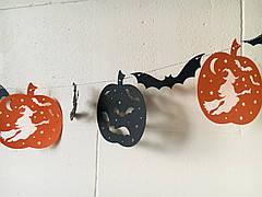 Фигурная гирлянда на Хэллоуин ( 3 метра)
