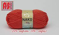 Nako Baby Marvel терракот -  25% шерсть, 75% акрил
