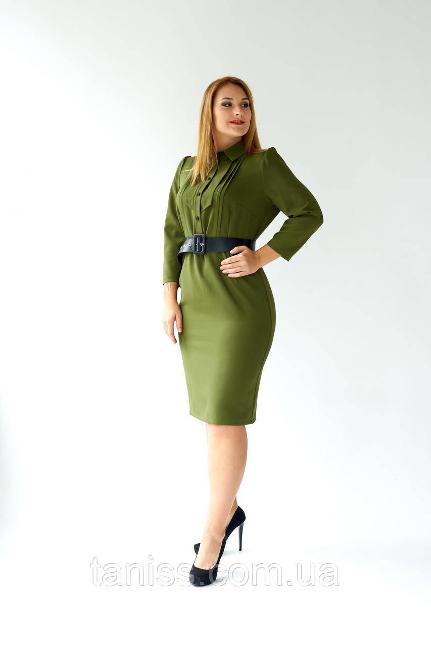 """Жіноче плаття """"Вевея"""", тканина костюмка , розміри 48,50,52,54, хакі, сукня"""