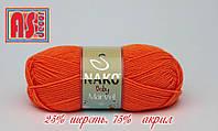 Nako Baby Marvel оранжевая -  25% шерсть, 75% акрил