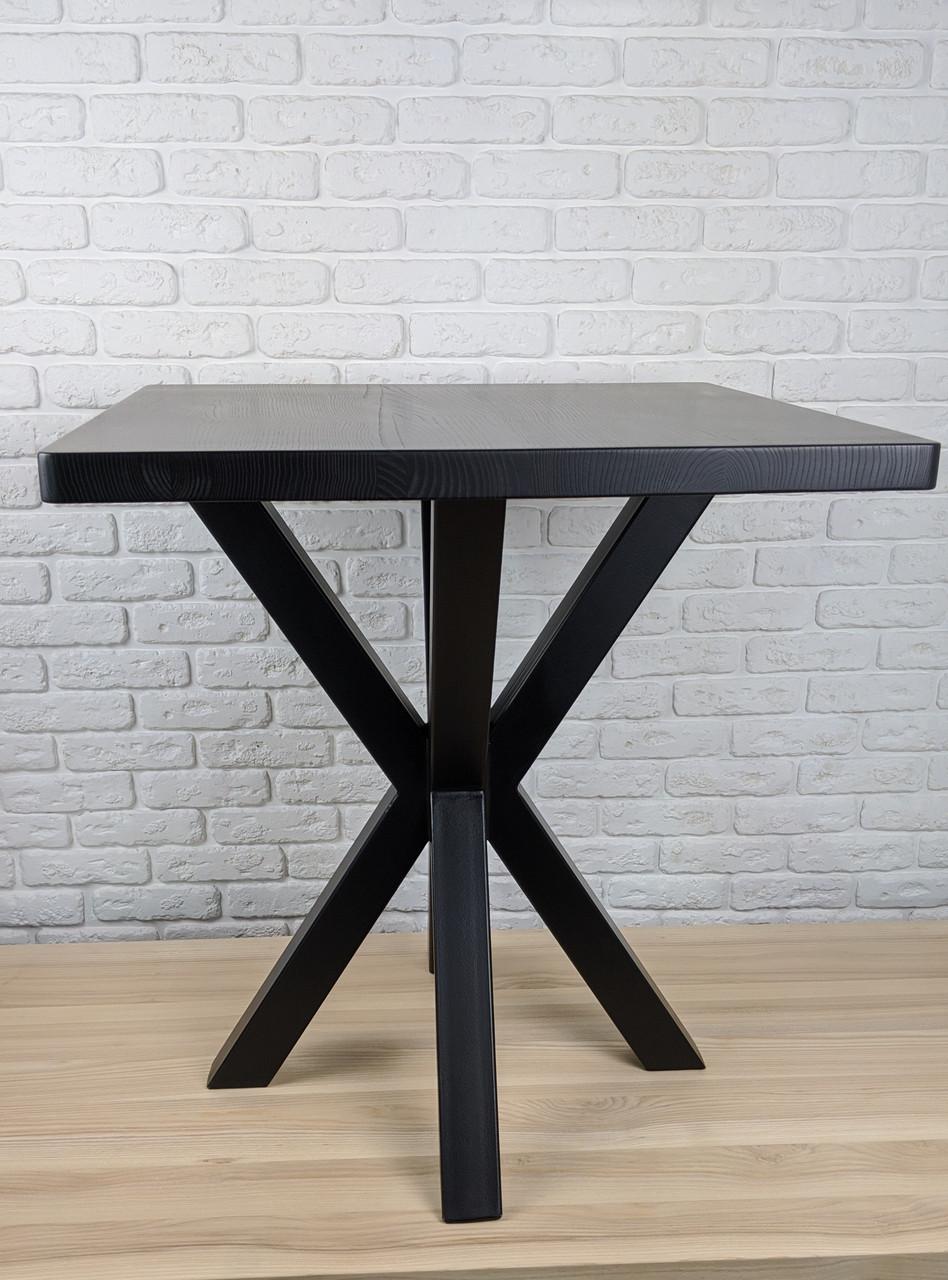 """Дизайнерський стіл для кафе бару ресторану з опорою """"Кілки"""" з квадратною стільницею"""