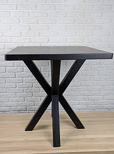 """Дизайнерский стол для кафе бара ресторана с опорой """"Колья"""" с квадратной столешницей"""