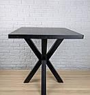 """Дизайнерский стол для кафе бара ресторана с опорой """"Колья"""" с квадратной столешницей, фото 2"""