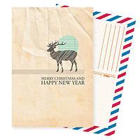Дизайнерская открытка. Merry Cristmas
