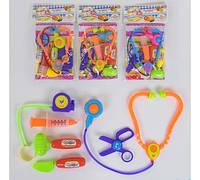 Игровой набор доктора ZD 892-84 ABCD *Фонендоскоп ножницы молоточки шприц* 3 вида, в кульке