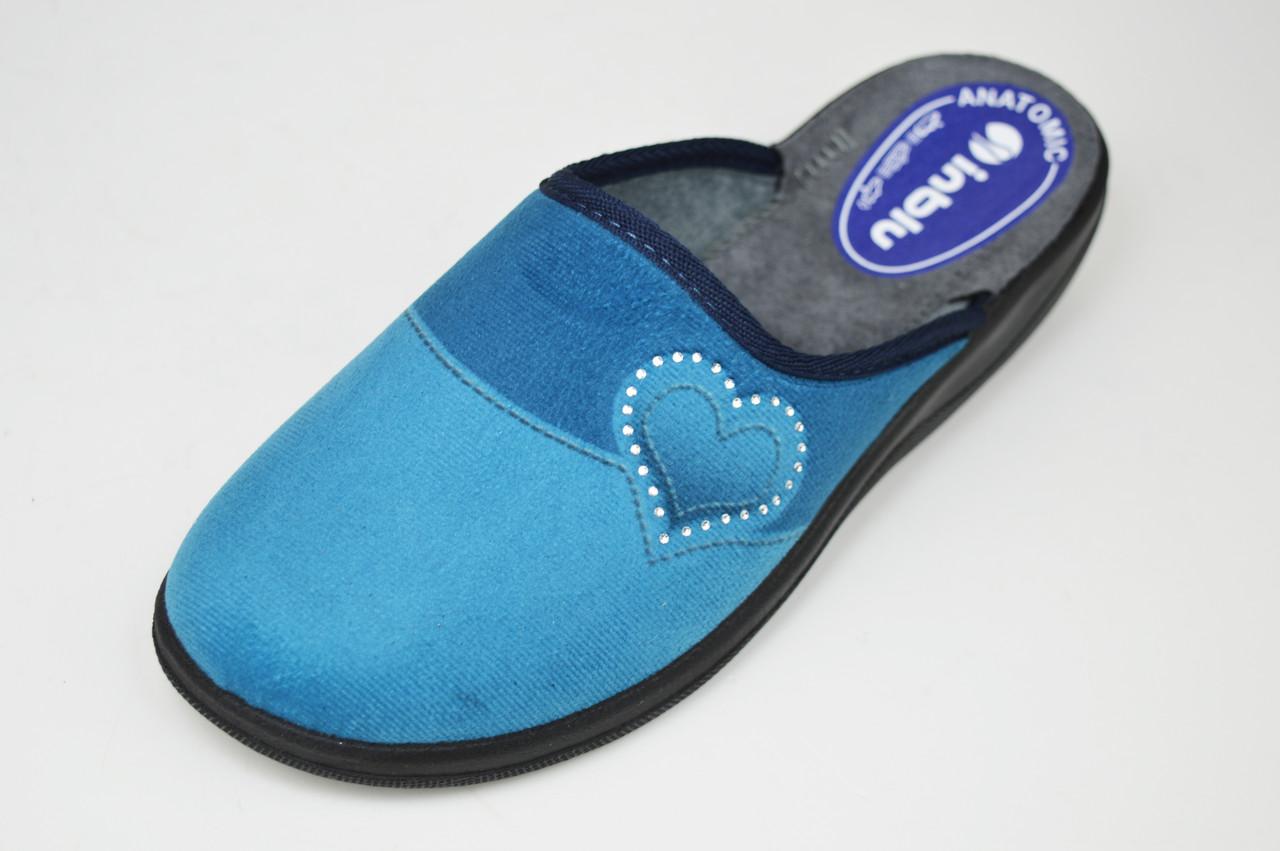 Тапочки Inblu CA5X голубо-синие
