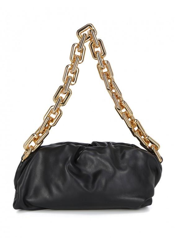 Сумка-клатч Bottega Veneta The Chain Pouch люкс копия Черная