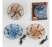 "Летающая тарелка UFO ""Induction Quadcopter"", 2 цвета, свет, в коробке JJ 03104 YX/ JJ 03103 YX"