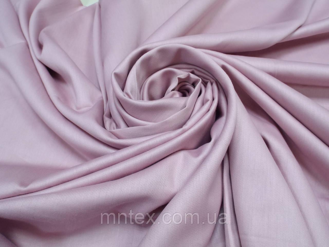 Ткань для пошива постельного белья сатин гладкокрашеный Пыльная Роза