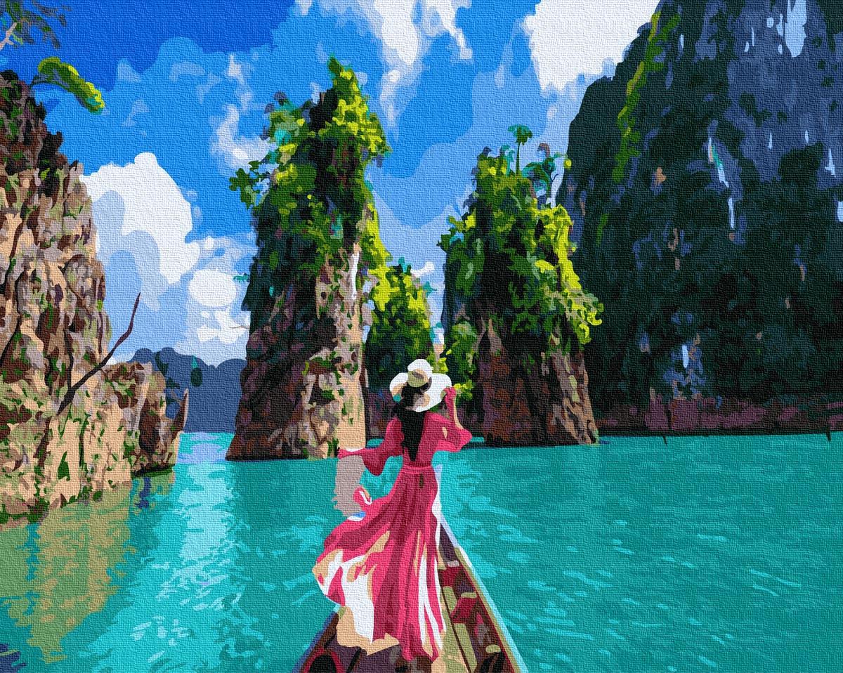 Картина по номерам 40х50см. GX36108 Однажды в Тайланде Rainbow