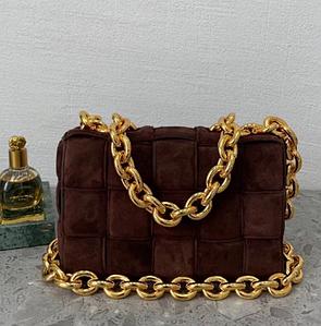 Сумка-клатч Bottega Veneta The Chain Cassette люкс копия Бордовая