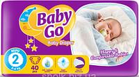 Подгузники детские Baby go 2 mini 3-6 кг 40 шт (6224008817963)