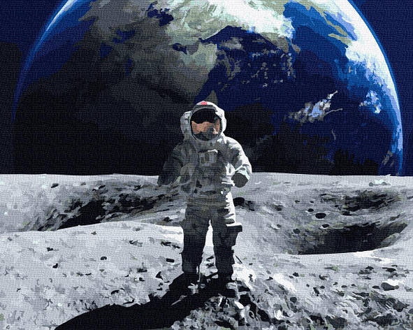 Картина по номерам 40х50см. GX35003 На Луне Rainbow, фото 2