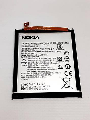 Аккумулятор Nokia 6.1 (TA-1043, TA-1016, TA-1045, TA-1050, TA-1054, TA-1068, TA-1089) HE345 3000mAh оригинал ,, фото 2