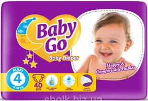 Подгузники детские Baby go 4 maxi 9-18 кг 40 шт (6224008817987)
