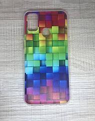 Чехол силиконовый для Samsung M30S 2019 (M307F) с геометрическим принтом