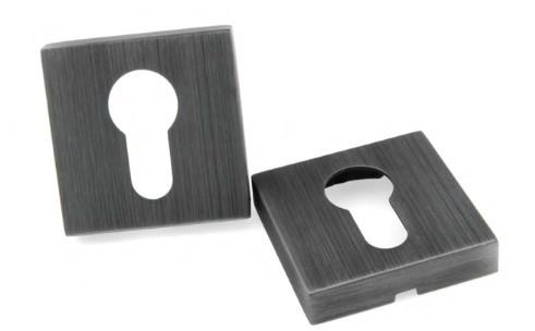Декоративная накладка под цилиндр PZ Forme Q матовое олово (Италия)