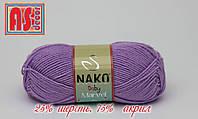 Nako Baby Marvel сиреневая -  25% шерсть, 75% акрил