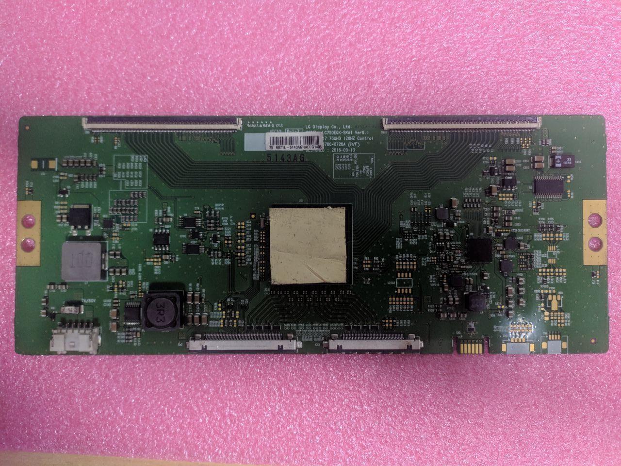 Плата T-Con 6870C-0728A, LC750EQK-SKA1, 6871L-5143A
