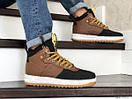 Чоловічі кросівки Nike Lunar Force 1 Duckboot (коричнево-чорні) 9918, фото 4
