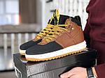 Чоловічі кросівки Nike Lunar Force 1 Duckboot (коричнево-чорні) 9918, фото 5
