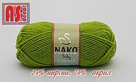 Nako Baby Marvel светло-оливковая -  25% шерсть, 75% акрил