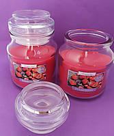 Свеча ароматизированная в сосуде AURA Bispol с запахом клубники время горения 30 часов