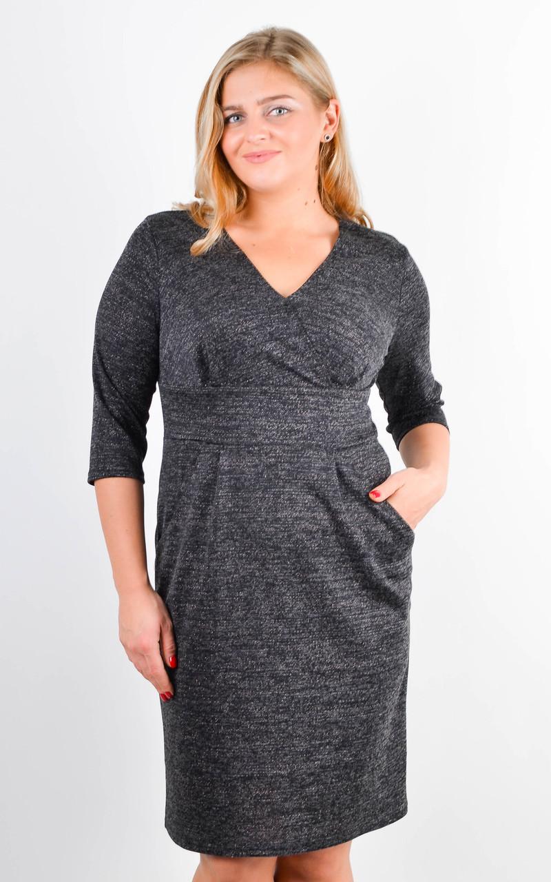 Красиве жіноче плаття з люрексом