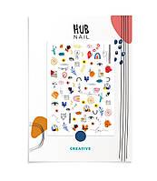 """Слайдеры для ногтей Hub Nail """"CREATIVE"""""""