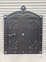 Дверца под коптилку, камин УСИЛЕННАЯ метал 4мм 500х500мм Арт-стиль