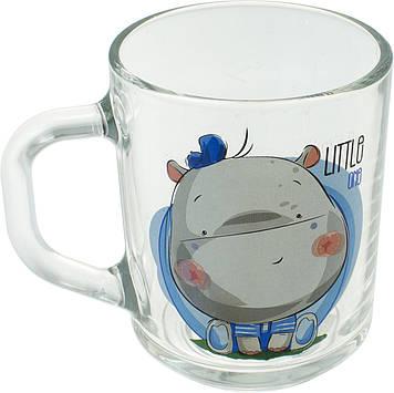 """Чашка скло 200мл """"Green Tea"""" Манюні/Смішні звірятка №85004261/07с1335/Галерея/(20)"""