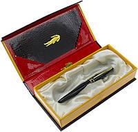 "Ручка чорн. ""Crocodile"" №215F в подар. упаковці,чорн. корпус, фото 1"