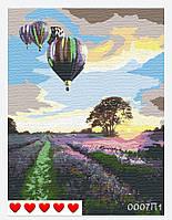 Картина по номерам Воздушные шары над Провансом (цветной холст) 40*50см Барви Розпис по номерах