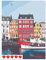 Картина по номерам Городской канал (цветной холст) 40*50см Барви Розпис по номерах
