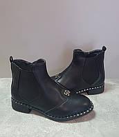 Женские демисезонные ботинки Gukkcr 8614 черный
