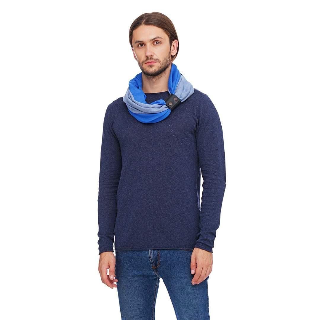 """Кашеміровий шарф""""Мілан """", шарф снуд, шарф бактус, зимовий чоловічий шарф"""