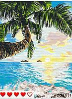 Картина по номерам Пальмы (цветной холст) 40*50см Барви Розпис по номерах