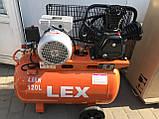 Компресор LEX LXAC365-120  120л 780л / хв, фото 5