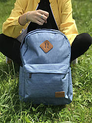 Яркий спортивный рюкзак в стиле Supreme синего цвета