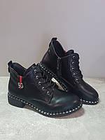 Женские демисезонные ботинки Gukkcr 8524 черный