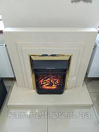 Каминокомплект (портал + электрокамин) Bonfire Inver Brass