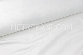 Фланель постільна 240 см, білого кольору, 100% бавовна №1754